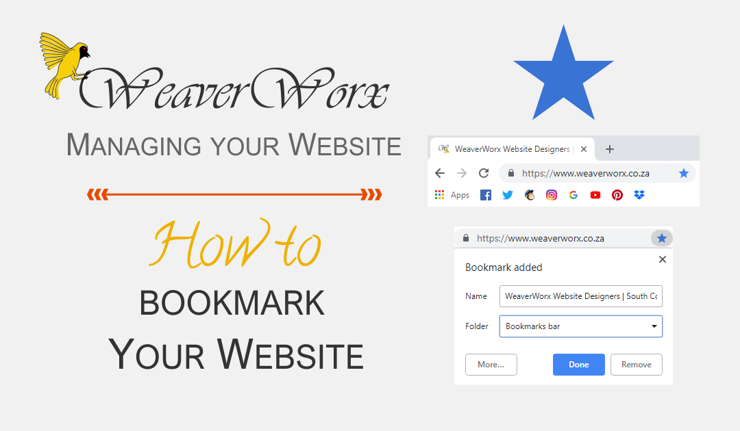 How To Boormark your Website