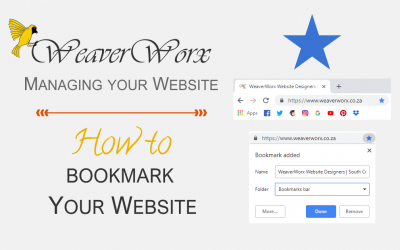 How to Bookmark Your Website