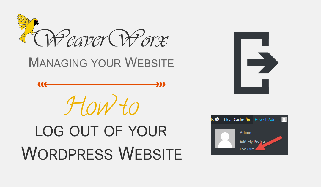 How to log out of your WordPress Website