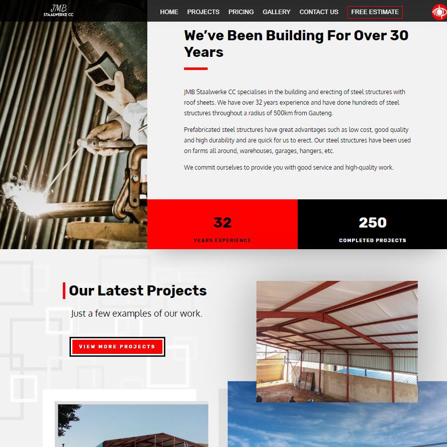 JMB Staalwerke CC homepage