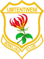 Umtentweni Bowling Club Logo consisting of a red flame lily inside a crest
