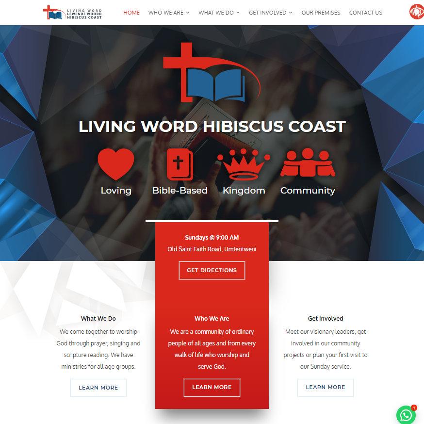 Living Word Hibiscus Coast website homepage