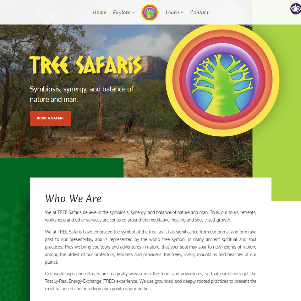 TREE Safaris homepage